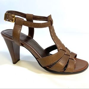 apostrophe MARTY Brown LEATHER Sandals Size 7M
